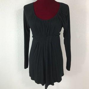 Liz Lange women's small black maternity blouse
